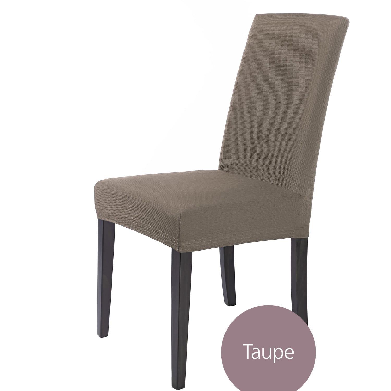 Couvre de Chaise si/ège /élastiques Couverture r/ésistant /à leau Taupe Housse de si/ège SCHEFFLER-Home Marie